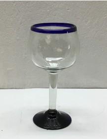 Copa Vino Esférica  Filo Cobalto