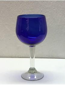 Copa Vino Esferica  Cobalto