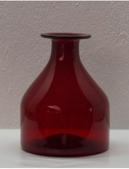 Florero Antiguo Chaparro Rojo