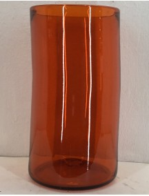 Florero Cilindro 20 Diam x 40 Cm H Naranja