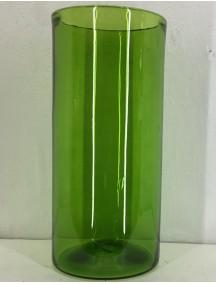 Florero Cilindro 20 Diam x 40 Cm H Verde