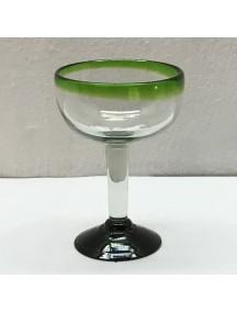 Copa Margarita Filo Verde (Mínimo 50 Piezas)
