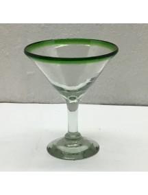 Copa Martini Filo Verde (Mínimo 50 Piezas)
