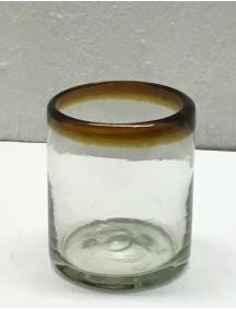 Vaso Rocas Filo Ambar (Mínimo 50 Piezas)