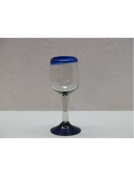 Copa Vino Goblet Filo Cobalto