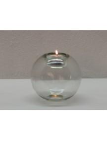 Portavela Esfera Mesa Cristal