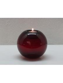 Portavela Esfera Mesa Roja
