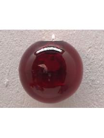 Portavela Esfera Pared Roja