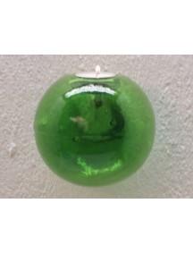 Portavela Esfera Pared Verde