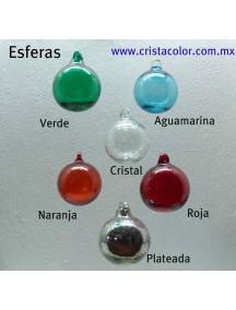 Esfera Asa 10 cm. Cristal (MÍNIMO 50 PZAS)