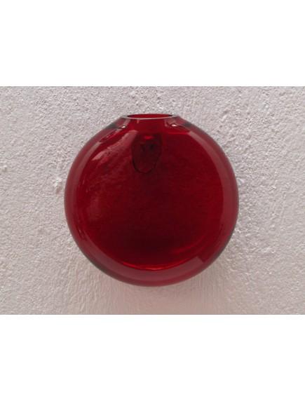 Florero Burbuja Pared Rojo
