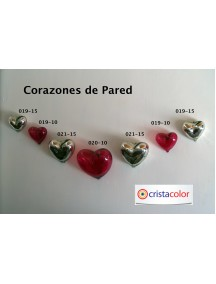 Corazon Pared Chico Cristal