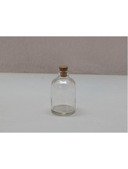 Botellita Mini cristal c/ Tapon de corcho