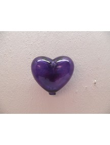 Corazon Pared Chico Morado