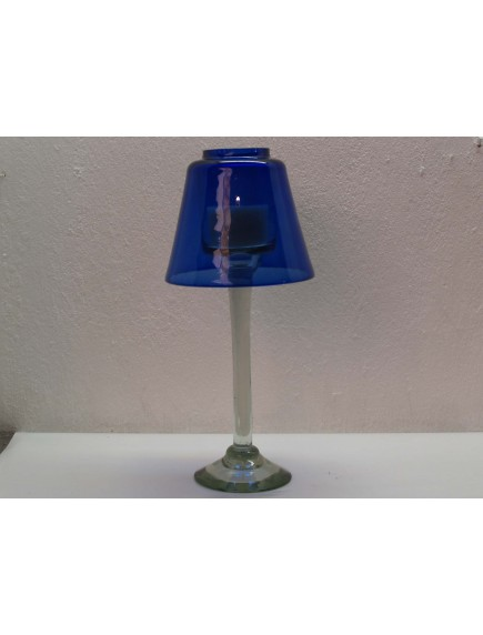 Lampara Veladora Grande Cobalto