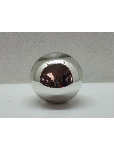 Esfera de Mesa 10 cm. Plata (MÍNIMO 50 PZAS)